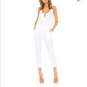 Monrow Crepe Jumpsuit in White